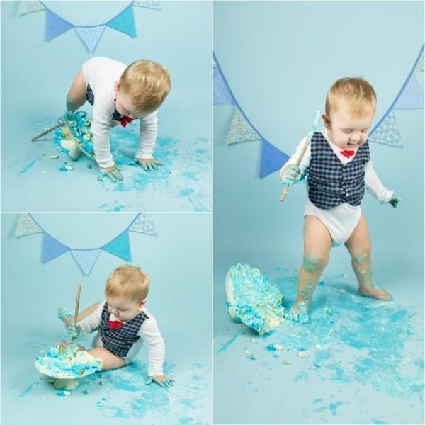 mali srčki - cake smash fotografiranje - prvi rojstni dan 4