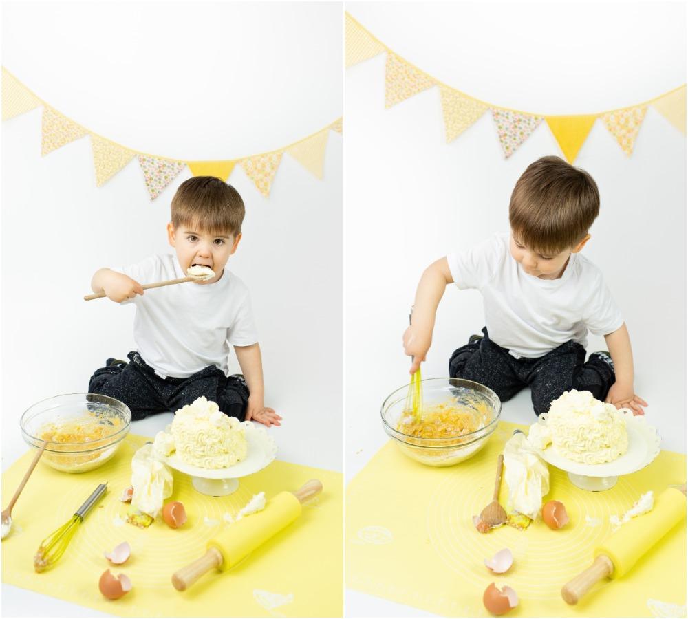 Mali srčki - Cake smash fotografiranje s tortico 4