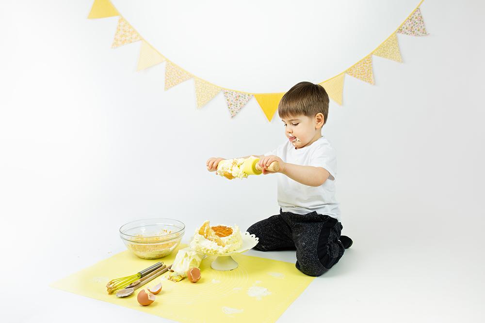 Mali srčki - Cake smash fotografiranje s tortico 6