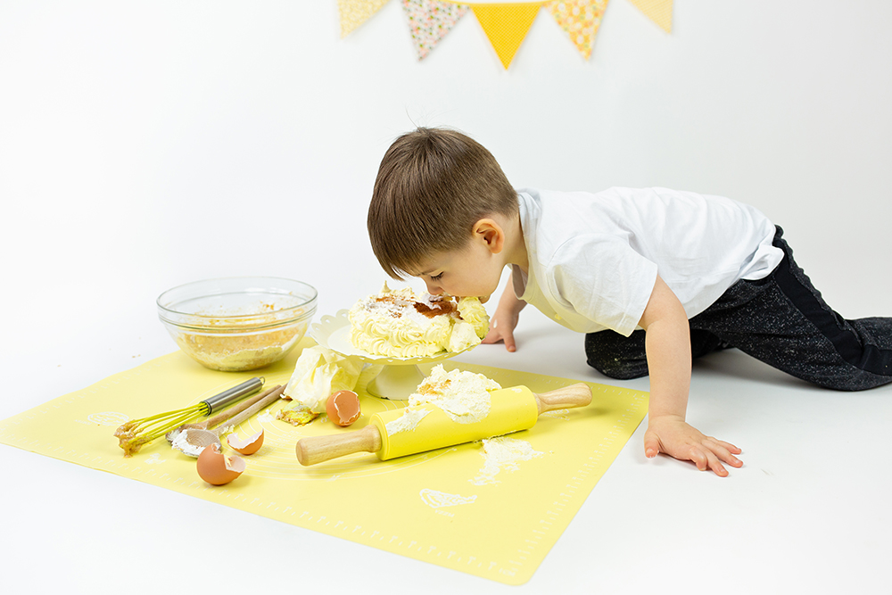 Mali srčki - Cake smash fotografiranje s tortico 8